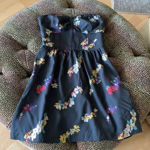 American Eagle Strapless Floral Dress